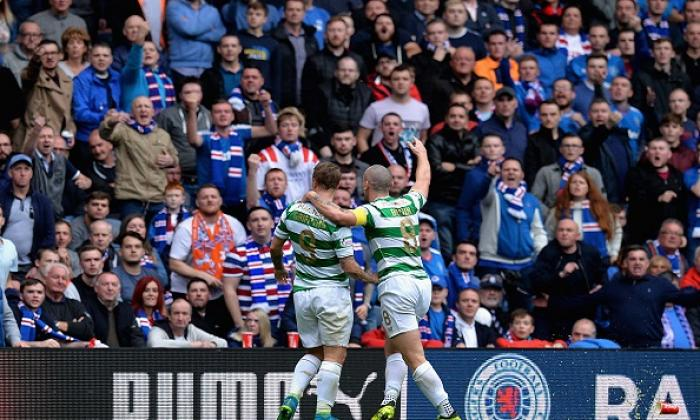 Leigh Griffiths and Scott Brown and Rangers