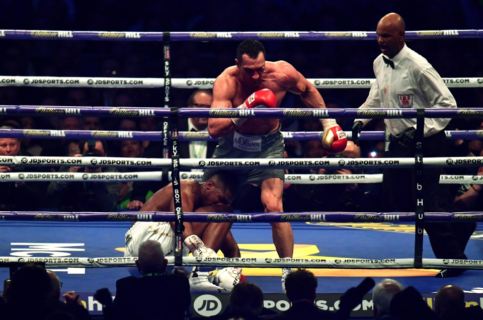 Klitschko flattened Joshua for the first time in his career when they fought in April 2017